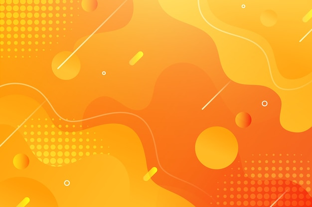 Fluid style wallpaper with memphis elements