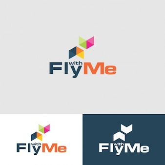 Fly with me Logo Template