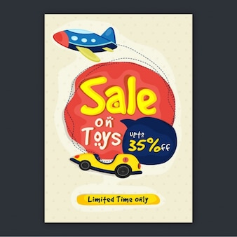 Flyer with sale on toys