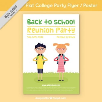 Flyer with students for back to school