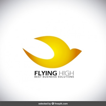Flying abstract bird logo