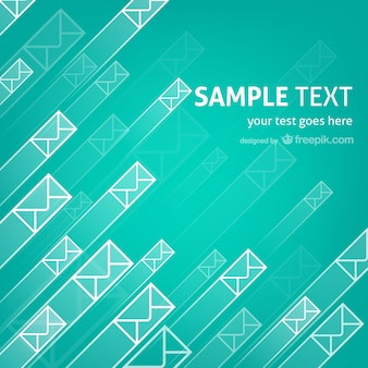 Flying envelopes template