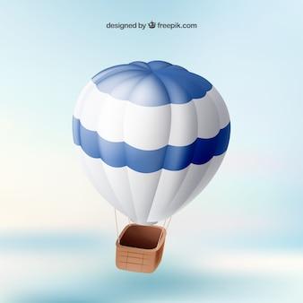 Flying hot air balloon