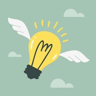 Flying ideas background
