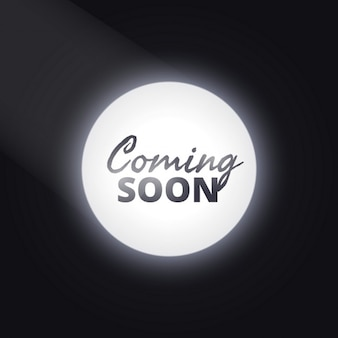 Focus dark background with text of  coming soon