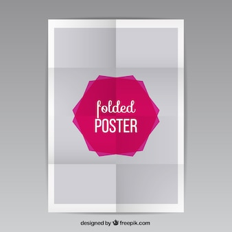 Folded poster