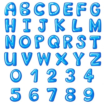 Font design for english alphabets and numbers