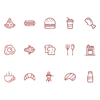 食べ物と飲み物のアイコン