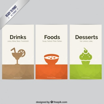 Food and drinks banners