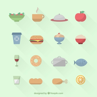 食べ物や飲み物のアイコン