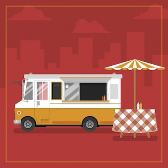 Food truck background design