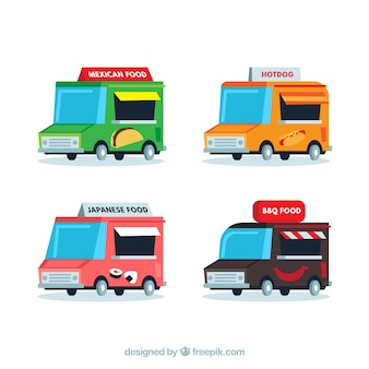 Food truck collection with fun style