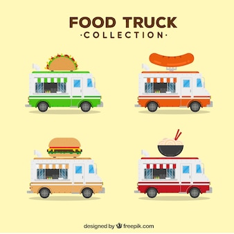 Food truck collection with modern food