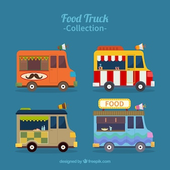 Food truck pack with different styles