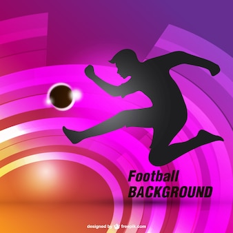 Football background with silhouette