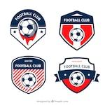 Football badges set