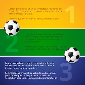 Football banner design in colors of brazil