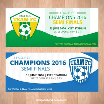 Football champions 2016 banners