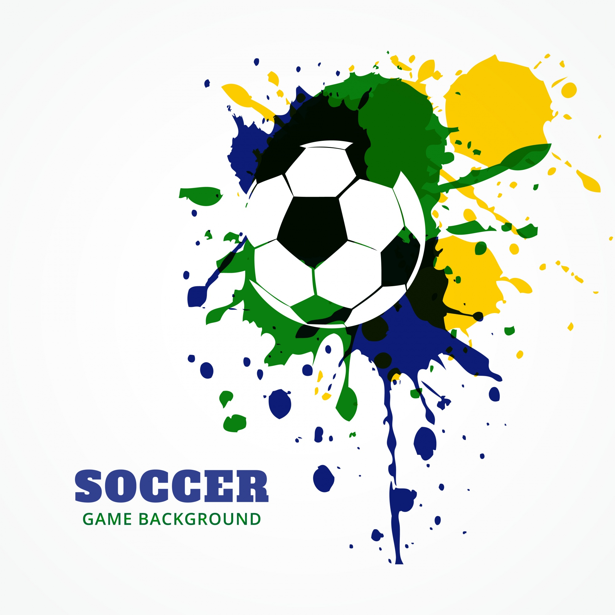 Football design in colors of brazil