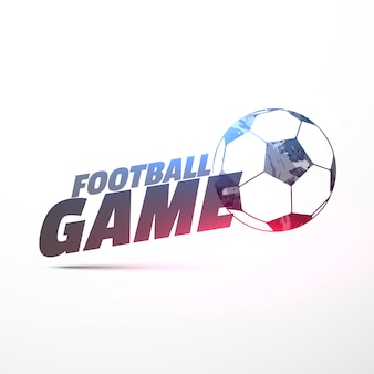 Football game background with light effect
