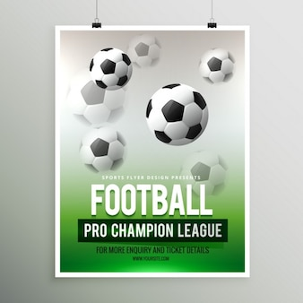 Football league poster
