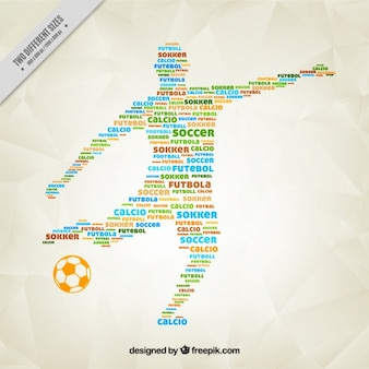 Football player silhouette made up words