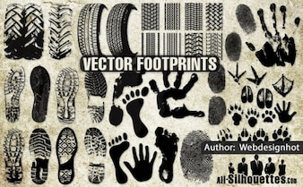 footprints silhouettes