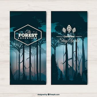 Forest landscape banners