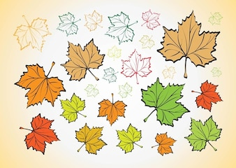 Forest nature Leaves fall vectors