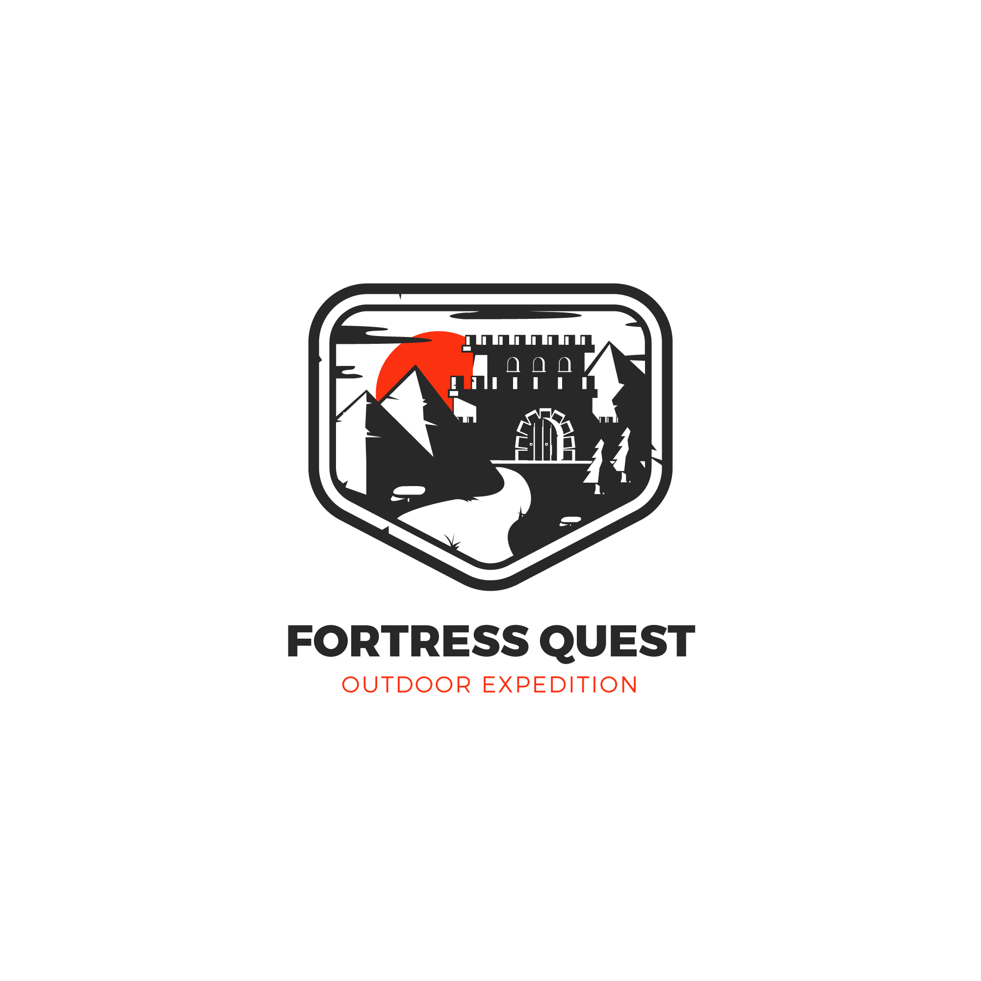 Fortress logo design