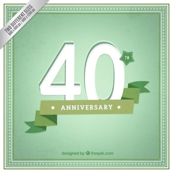 Forty anniversary green background