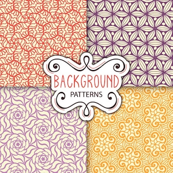 Four backgrounds with patterns
