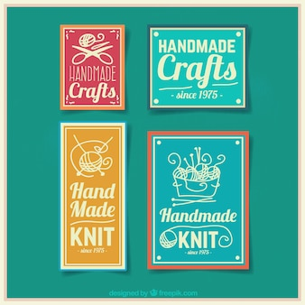 Four badges for crafts