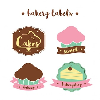 Four bakery labels