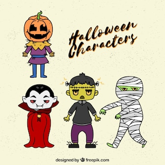Four basic halloween characters