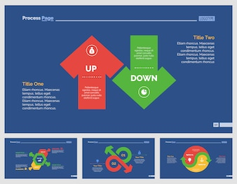 Four Business Slide Templates Set