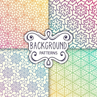 Four colorful backgrounds with patterns