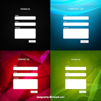 Four contact email templates