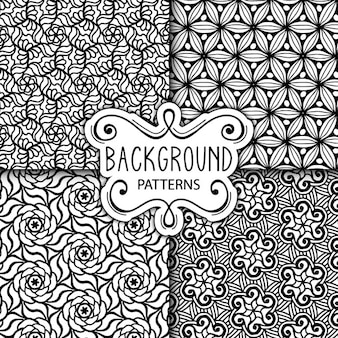 Four cute black and white backgrounds