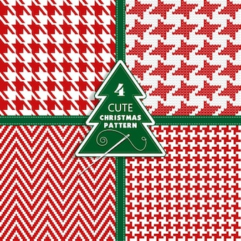 Four cute christmas patterns