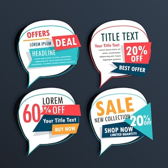 Four discount vouchers on a dark background