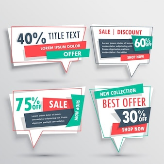 Four discount vouchers on a gray background
