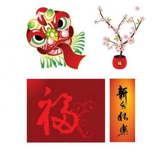 four elements chinese style