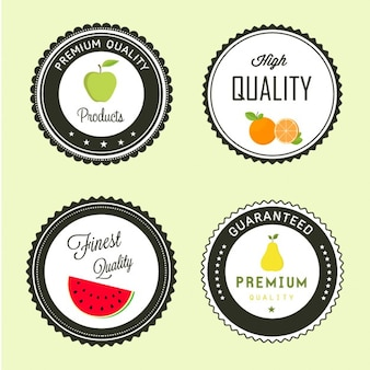 Four fruit labels