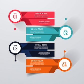 Four geometric banners for infographics