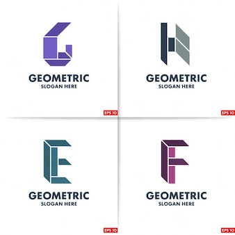 Four geometric logos