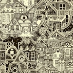 Four hand drawn city patterns