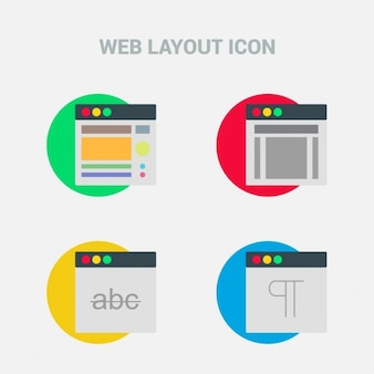 Four icons, web template
