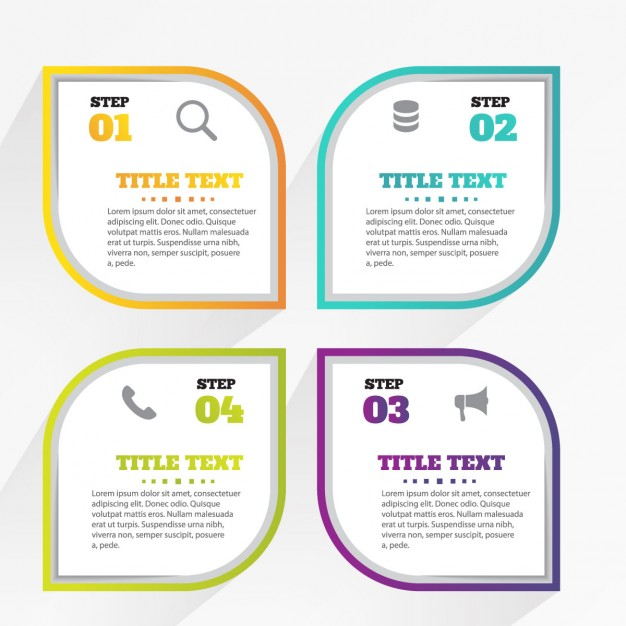 Four leaves with options for infographics