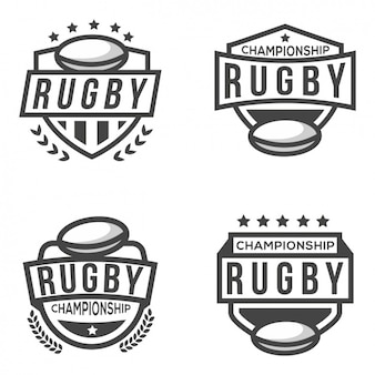 Four logos for rugby